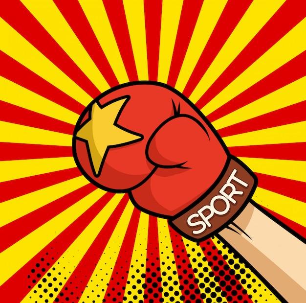 Bande dessinée poing illustration de poing gant