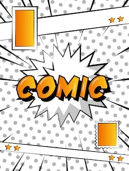 Bande dessinée pop art explosion livre rétro fond blanc