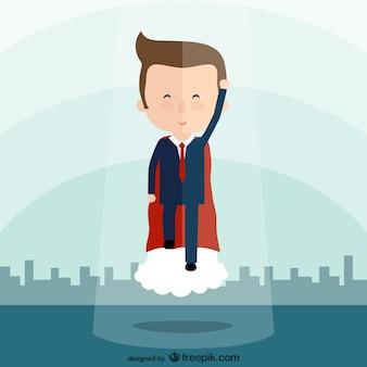 Bande dessinée de super-héros d'affaires