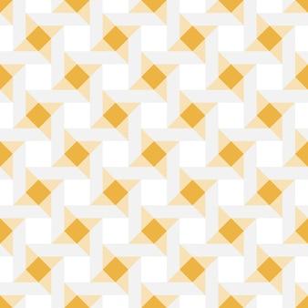 Bande de motif de fond abstrait géométrique sans soudure couleurs or, gris et blancs.
