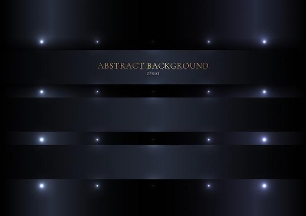 Bande noire abstraite avec tache lumineuse