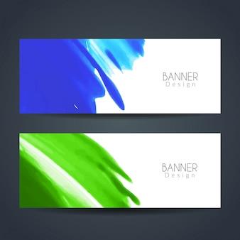 Banderoles élégantes d'aquarelle