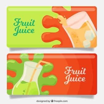 Banderoles de jus de fruits