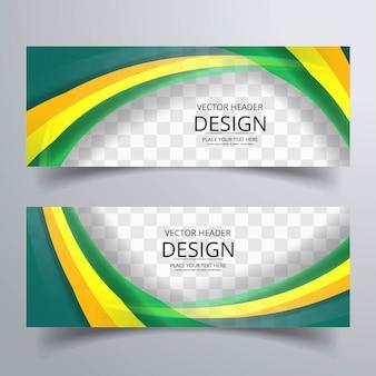 Banderoles ondulées colorées