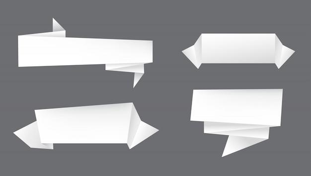 Banderoles en papier blanc