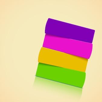 Banderoles en papier coloré sur lumineux