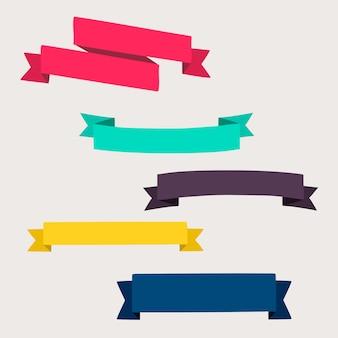 Banderoles en papier colorées et décorées