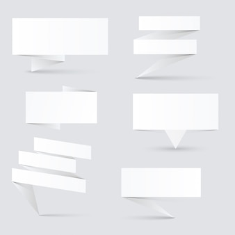 Banderoles en papier décorées