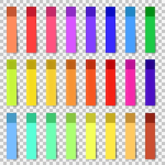 Bandes adhésives de couleur de vecteur avec modèle d'ombre.