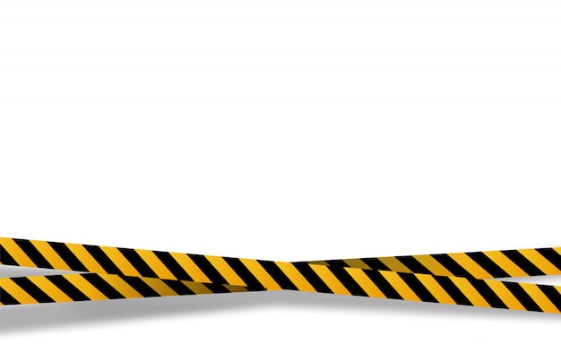 Bandes noires et jaunes, bandes d'avertissement. signes de danger. mise en garde