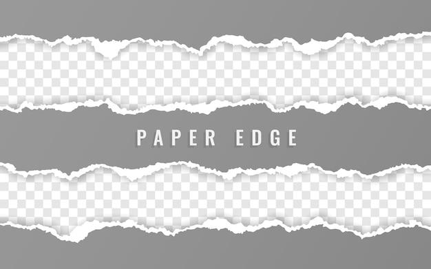 Bandes De Papier Carrées Déchirées Vecteur Premium