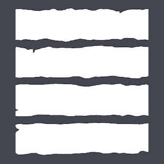 Bandes de papier déchiré