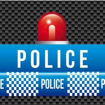 Bandes de police sur l'illustration vectorielle fond noir