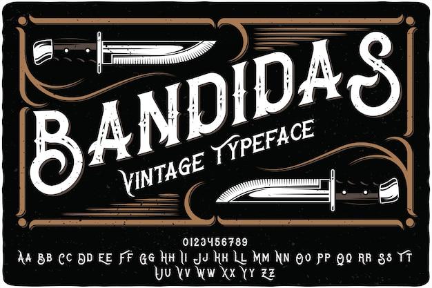 Bandidas lettrage vintage
