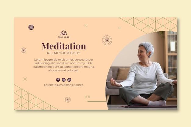 Baner de méditation et de pleine conscience
