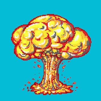 Bang burst exploser de la dynamite avec de la fumée