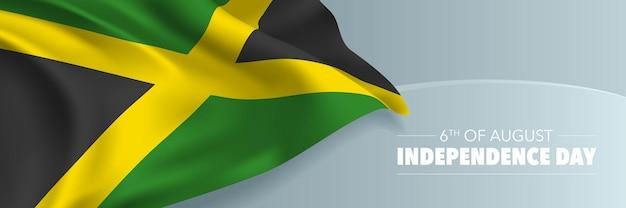 Banne de la fête de l'indépendance de la jamaïque