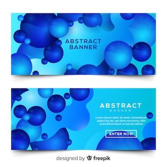 Bannière abstraite bleue
