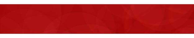 Bannière abstraite de cercles translucides aux couleurs rouges