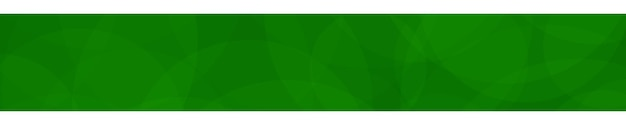 Bannière abstraite de cercles translucides aux couleurs vertes