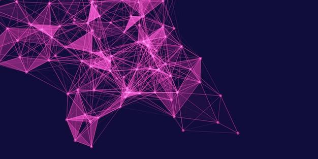 Bannière abstraite avec une conception de connexions low poly