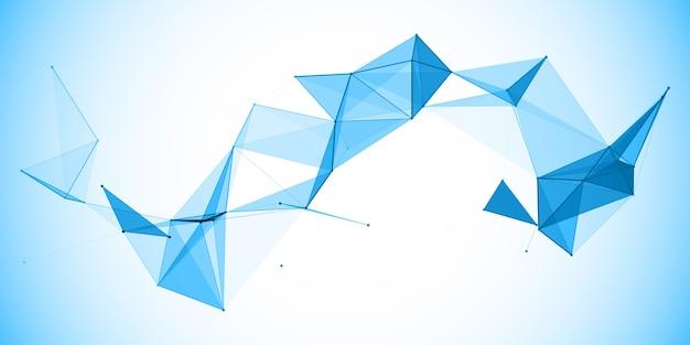 Bannière abstraite avec un design moderne low poly