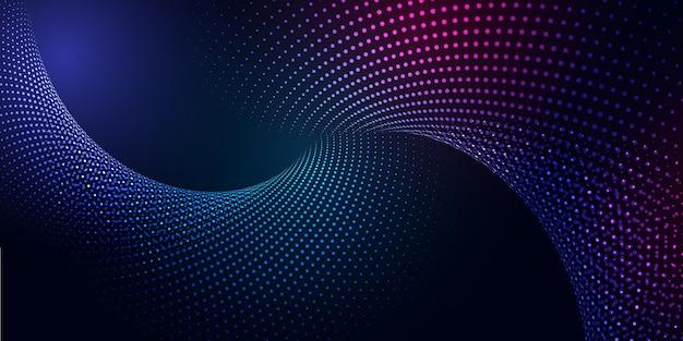 Bannière abstraite avec un design moderne de particules cyber