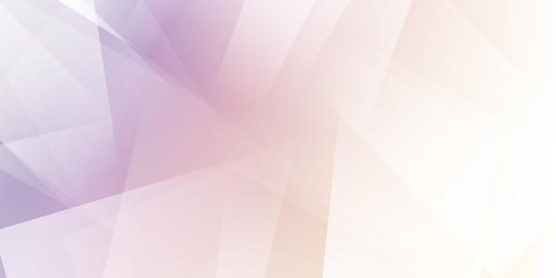 Bannière abstraite avec un design pastel low poly