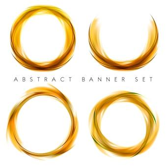 Bannière abstraite sur jaune