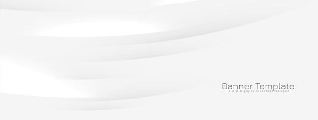 Bannière abstraite avec des lignes ondulées brillantes
