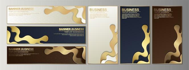 Bannière abstraite de luxe doré