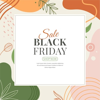 Bannière abstraite de memphis black vendredi
