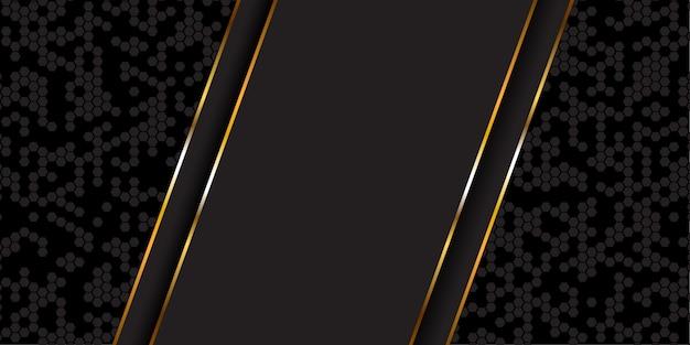 Bannière abstraite en or et noir