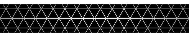 Bannière abstraite de petits triangles en couleurs noires