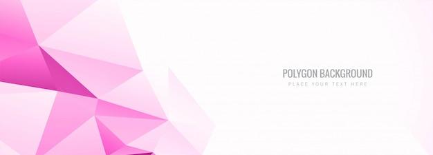 Bannière abstraite polygone coloré