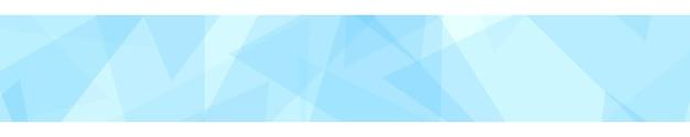 Bannière abstraite de triangles translucides aux couleurs bleu clair