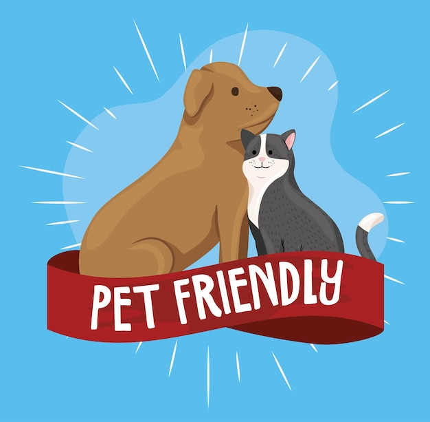 Bannière acceptant les animaux de compagnie