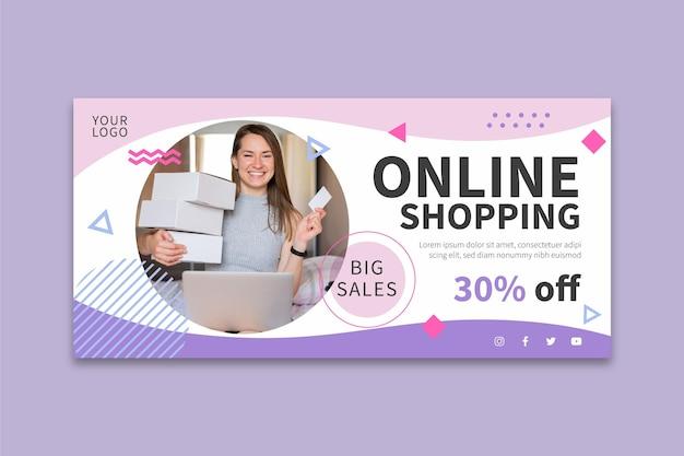 Bannière d'achat en ligne