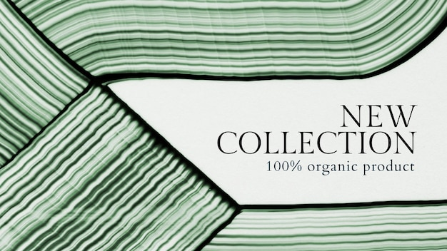 Bannière d'achat de nouvelle collection de vecteur de modèle d'art abstrait minimal