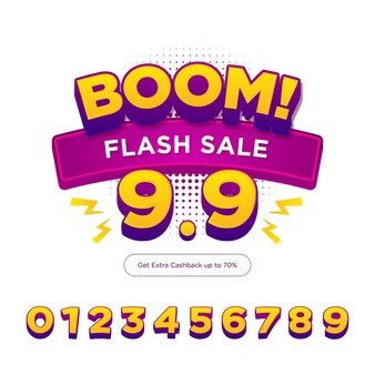 Bannière d'achat de vente flash
