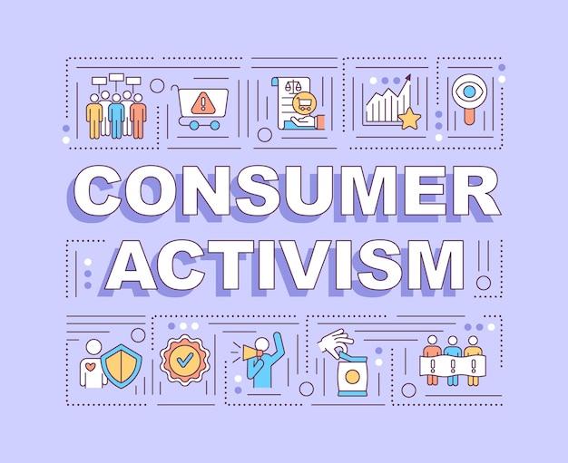 Bannière D'activisme Des Consommateurs Vecteur Premium
