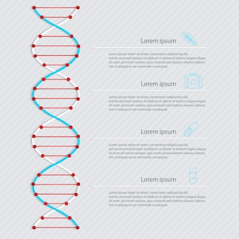 Bannière d'adn, infographie scientifique