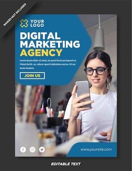 Bannière d'agence de marketing numérique et modèle de médias sociaux