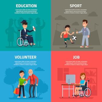 Bannière d'aide aux personnes handicapées