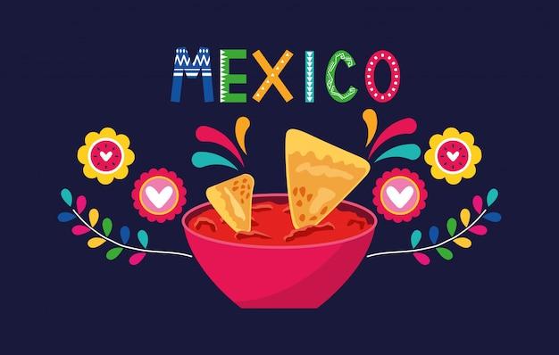 Bannière alimentaire au mexique
