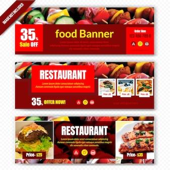 Bannière alimentaire pour restaurant