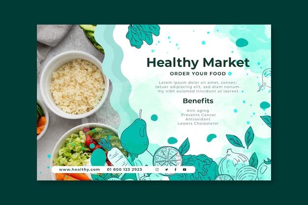 Bannière d'aliments bio et sains