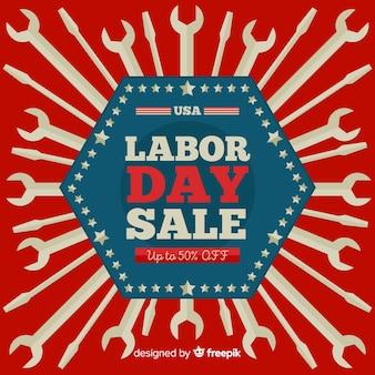 Bannière américaine de vente de la fête du travail