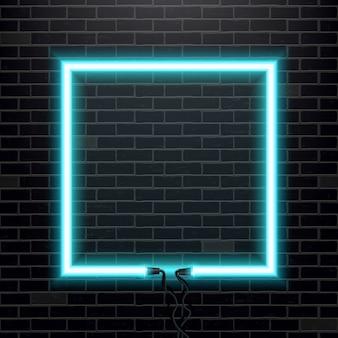 Bannière d'ampoule de lampe au néon.