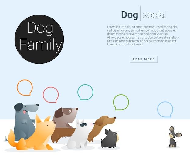 Bannière animale avec des chiens